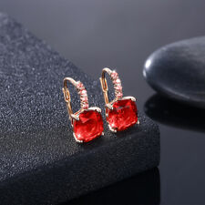 Earrings Princess Kate & Diana Ruby Red Swarovski Stone White Gold plate NWT