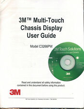 NEW 3M MultiTouch Display Screen User Guide C3266PW & Mac PC Driver CD-ROM Disc