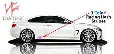 4 Series BMW Pink 3 Color Stripe Decal For Side Skirt Vinyl Decal Nickos Graffix