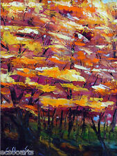 """Original Oil Painting 8x10in """"Autumn Colors (R)"""" Artist Signed, Framed"""