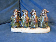 Three Hands Corp Snowmen Candelabra, 4 Candle Slots, Christmas Snowman, Green