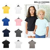 Bella + Canvas Toddler Jersey Short Sleeve Tee 3001T - Kids Cotton Blank T-shirt
