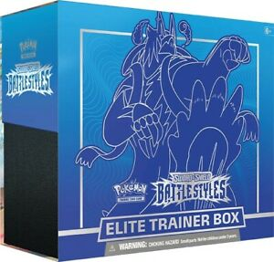 Pokemon Sword And Shield Battle Styles Elite Trainer Box Blue Fast Free Shipping