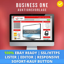 Red One | eBay Template Auktionsvorlage Verkaufsvorlage Ebayvorlage Responsive