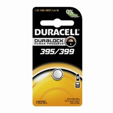 3 Pack Duracell 395/399 1.5V Silver Oxide Button Battery Watches/Electronics