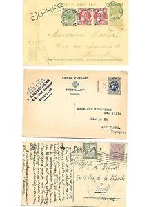 Belgium: 1905; 1921-1936, 2 postal stationery XF + postal with tax EBBL11