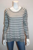 FRENCH CONNECTION Brand Grey White Stripe Sweater Top Size M BNWT #RI89