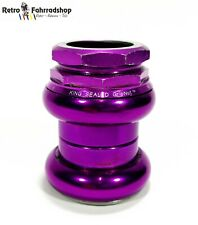 "Chris King No Logo 1 1/4"" Threaded Gewinde Steuersatz RAR Purple 1990s 127g KULT"
