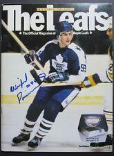 1982 Maple Leaf Gardens NHL Program Toronto vs Vancouver Signed by Wilf Paiement