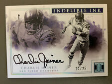 2017 Impeccable Indelible Ink CHARLIE JOINER AUTO /25 - San Diego Chargers