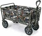 Camouflage Utility Folding Wagon Outdoor Beach Portable Foldable Cart