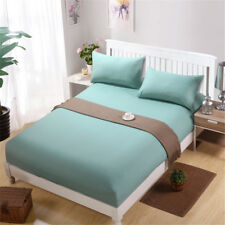 New Solid color 16 color Fitted Sheet Twin Full Queen King Cotton Bed Sheet Cove