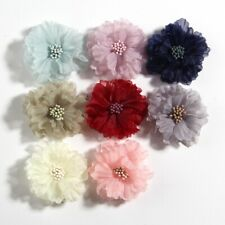 """20PCS 5CM 2"""" Hair Fabric Flowers Blossom With Matches For Headbands Bouquet"""