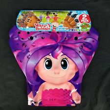 Zing Wave-A-Bubbles Package of 2 Hours Of Bubble Fun Pink Purple Girl New Sealed