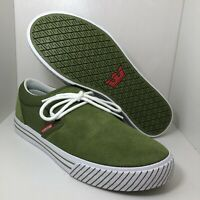Supra Skateboarding Shoes Low Green 08106-372 Mens Size 9