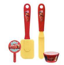 Zak Designs 4pc Cupcake Kitchen Tool Set Disney Cars - Kids Activity Set NIB