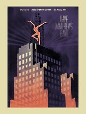 Dave Matthews Band Poster 2010 St. Paul Mn Rare Signed & Numbered #/475