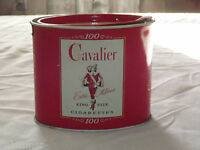 VINTAGE TOBACCO CAVALIER KING SIZE CIGARETTES TIN  BANK