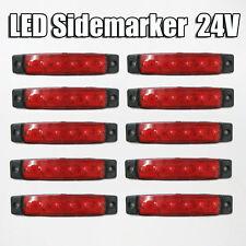 10 x 24V LED ROSSO Lampadina Luce posizione laterale Camion Rimorchio