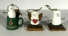 The Original S'mores Midwest Set Of 3 Boxed Christmas Ornaments Marshmallows
