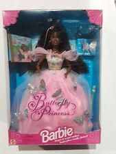 Butterfly Princess Barbie Doll African American 13052 Mattel 1994 magical wand