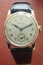 De Colección Reloj De Oro Macizo 9 CT-década de 1930 mecánico ROLEX