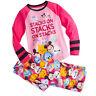 Disney Store Tsum Tsum Girls PJ's Pajamas Size 7/8 Minnie Mickey Marie Eeyore !
