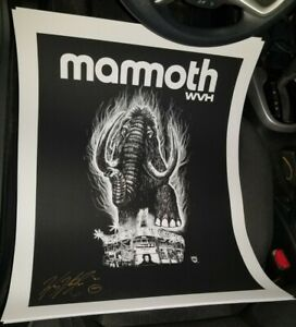 MAMMOTH WVH WHISKEY A GO GO POSTER SIGNED BY WOLFGANG VAN HALEN - SUNSET STRIP