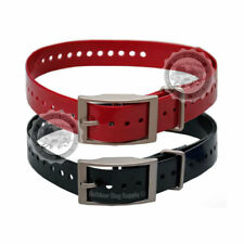 """Garmin Brand 3/4"""" Replacement Dog Collar Strap Red or Black 10 Pack"""
