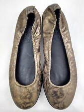 The Flexx Size 8 Ballet Flats Shoes Brown Bronze Leather