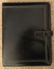 Black Day Timer 95 X12 Faux Leather Monthly Personal Organizer Planner Folio