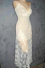 Claire Pettibone Bridal Lingerie Nightie GOWN Long New Ivory Lace Hailey S $199