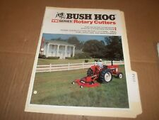 PY115) Bush Hog Sales Brochure 8 Pages - TM Series Rotary Cutters