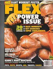 FLEX bodybuilding muscle magazine /Lee Priest w/workout poster 7-04