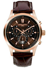 Jorg Gray Mens JG6800-24 Brown Dial Brown Leather Band Stainless Steel Watch