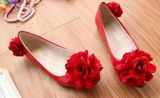 Decolté decolte scarpe donna ballerina rosso rosa pizzo sposa 3.5, 4.5  9349