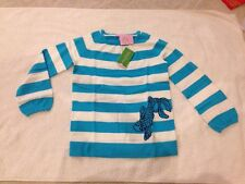 NWT Lilly Pulitzer Kid's Sweater Addie Novelty Teachers Per Stripe Size L (8-10)