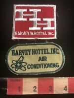 Vtg Lot Of 2 HARVEY HOTTELL INC. AIR CONDITIONING Advertising Patch 93AD