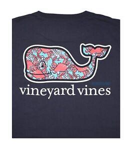 "NWT Vineyard Vines Men SS Whale Pocket Crew Tee T-Shirt ""CRAB SHELL WHALE FILL"""
