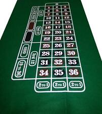 Dark GREEN Roulette Casino Cloth - Layout - Baize Free P+P - Vivid Colours