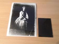 JULIJA HUNJADI - PRINCES OF SERBIA - ORIGINAL PHOTO + GLASS NEGATIVE