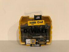 New DEWALT Extreme Impact Driver Torsion Bits PZ2 X 25 Bits 5035048535233