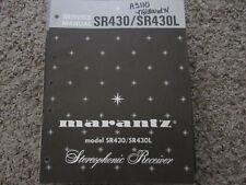 New listing Marantz Sr430 Sr430L Stereo Receiver Original Service Repair Manual