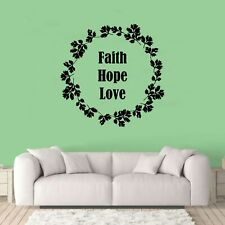 Faith Hope Love Wall Art Quote Decal Sticker Q102
