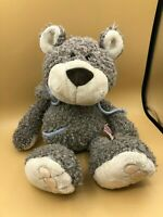 NICI Forest Friends Grey Bear With Hoodie Plush Soft Stuffed Toy Animal Doll