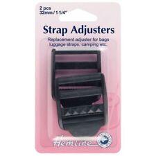 Hemline Strap Adjustable Buckle - Black (32mm)
