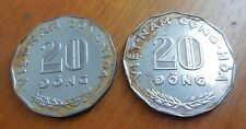 South Vietnam 20 Dong 1968, Lot of 2 coin , FAO Coin Farmer in Rice Paddy, KM 11