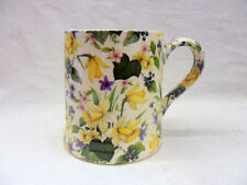 Spring Daffodil chintz tankard mug by Heron Cross Pottery