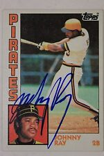 JOHNNY RAY Pirates Angels Autograph 1984 Topps #537 Signed Card 16G