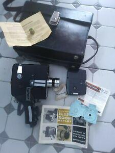 Bell & Howell Zoom Reflex 8mm Clockwork Cine Camera Vintage Collectable 083239